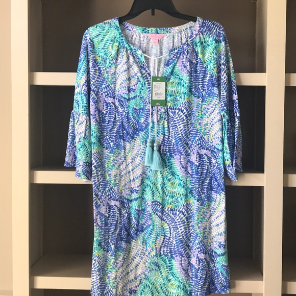 dd13f4bd92f Lilly Pulitzer Del Lago Tunic Dress/Beach Cover Up.  M_5adb50962ab8c5059fe1af85